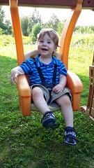Mon petit fils Éliott au mois d'août, déjà 1 an