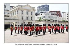 Scots Guards Band - London - 31.7.2014