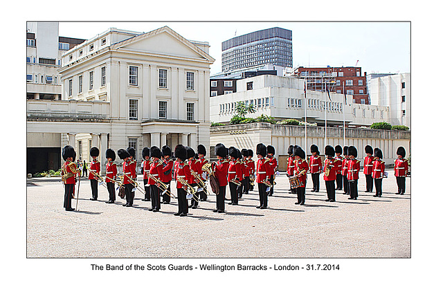 Scots Guards Band - London - 31.7.2014