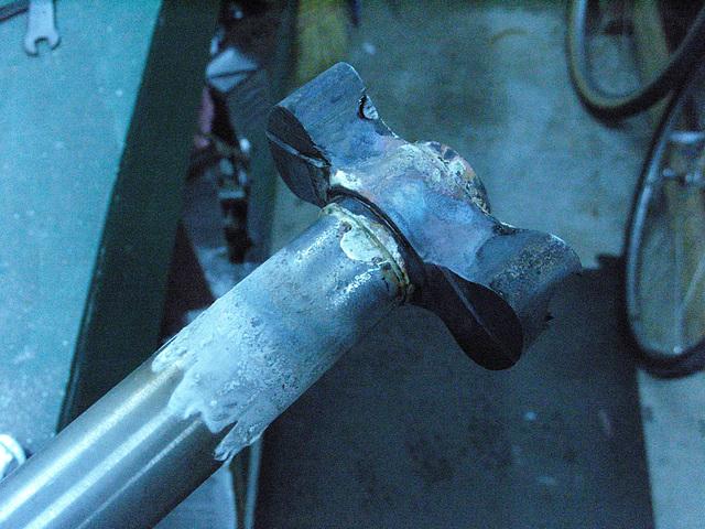 #CT209 Steerer tube inserted into Vagner crown and brazed (2009)