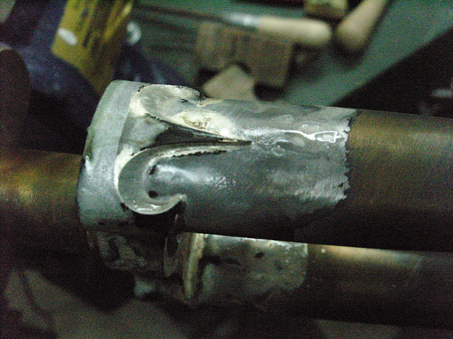 #CT209 Blade brazed to crown before clean up (2009)