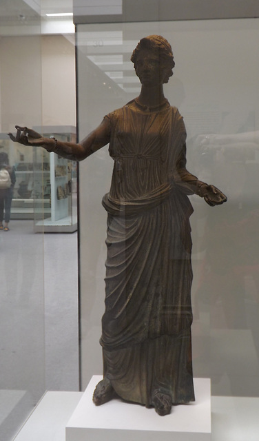 Bronze Votive Statue of a Young Woman in the British Museum, May 2014