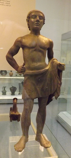 Etruscan Bronze Votive Statuette of a Youth in the British Museum, May 2014