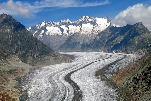 Le glacier d'Aletsch (Valais, Suisse)