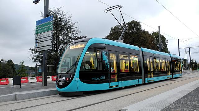 BESANCON: 2014.08.31 Inauguration du Tram: Station Gare Viotte.
