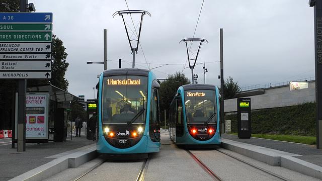 BESANCON: 2014.08.31 Inauguration du Tram: Station Gare Viotte.03