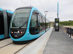 BESANCON: 2014.08.31 Inauguration du Tram: Station Haut du Chazal.