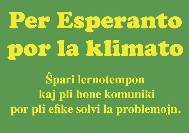 Avec l'espéranto pour le climat