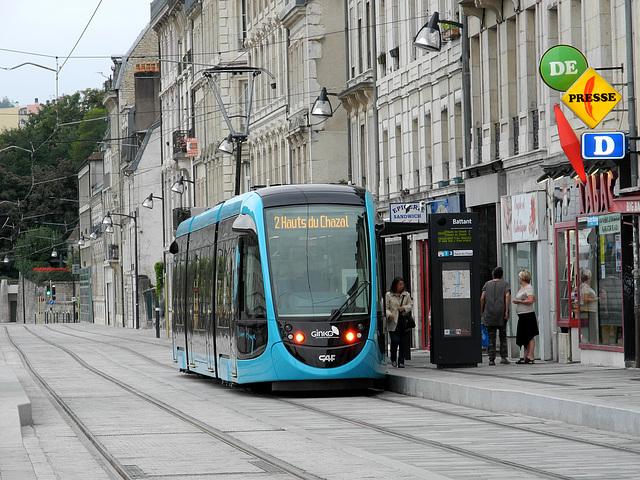 BESANCON: 2014.08.31 Inauguration du Tram: Station Battant.