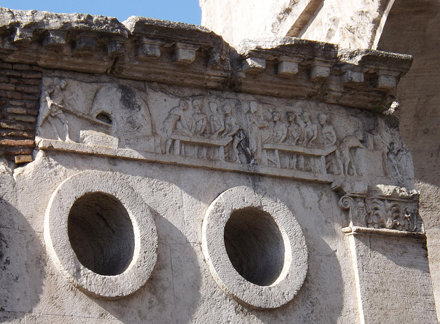 Detail of the Tomb of Eurysaces in Rome, June 2012