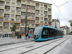 BESANCON: 2014.08.31 Inauguration du Tram: Station Flore. 01