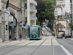 BESANCON: 2014.08.31 Inauguration du Tram: Station Flore. 03
