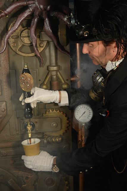 Steam-powered drinkery