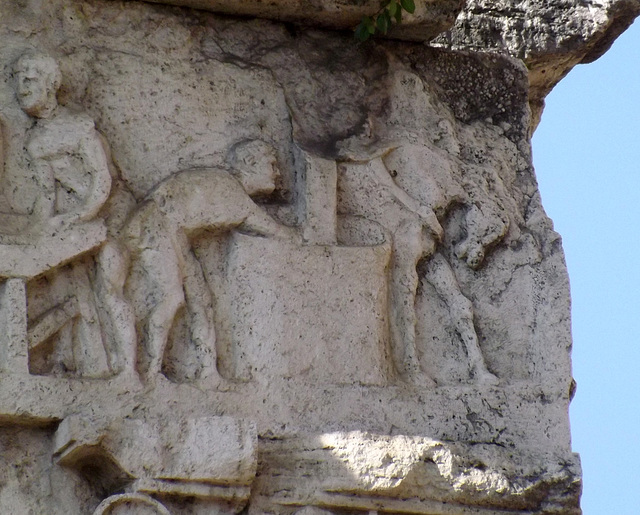 Detail of the Frieze on the Tomb of Eurysaces in Rome, June 2012