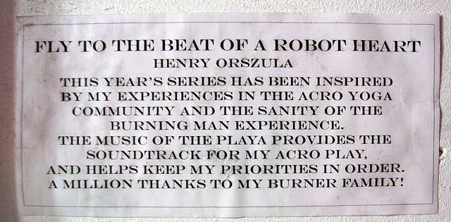 Fly To The Beat Of A Robot Heart by Henry Orszula (0451)