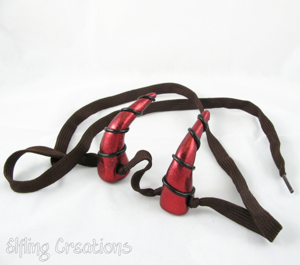 Red Dragon or Devil Costume Horns