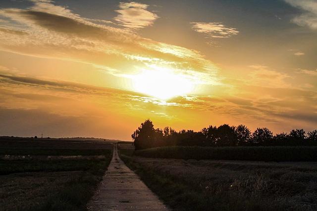 Sunset at Heldenbergen