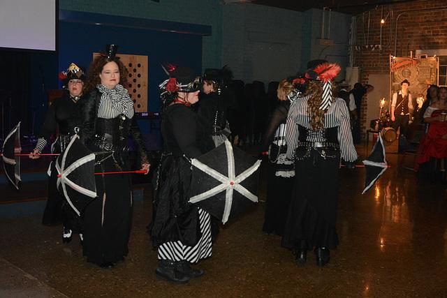 The alluring steampunk umbrella dance