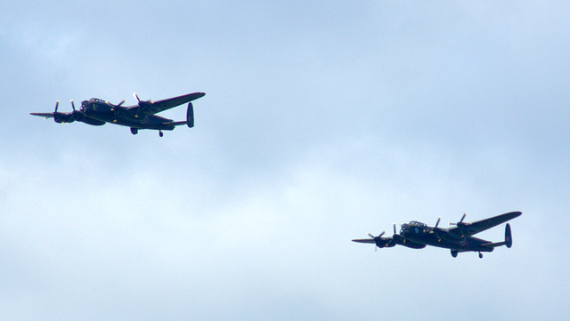 The Two Lancasters over Holmfirth