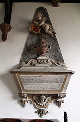 Memorial to Griffith and Ann Boynton, St Martin's Church, Burton Agnes, East Riding of Yorkshire