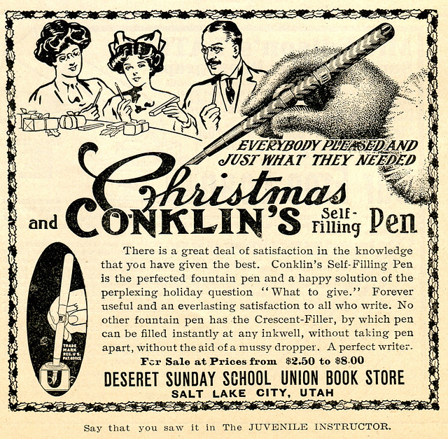 Christmas and Conklin's self-filling pen