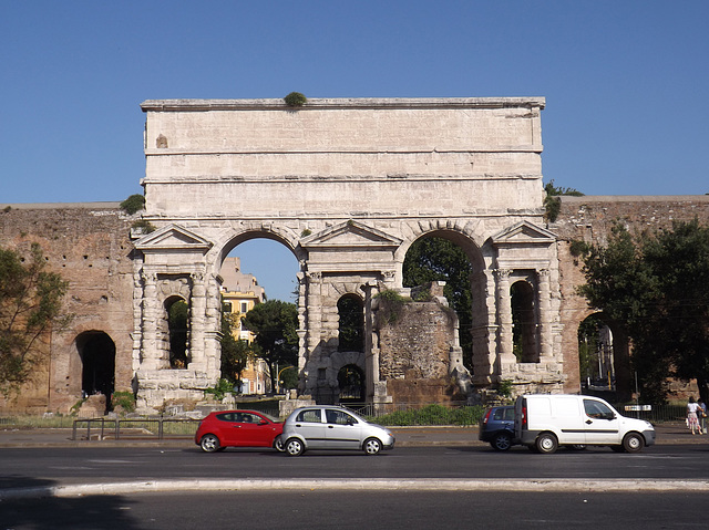 The Porta Maggiore and the Tomb of Eurysaces in Rome, June 2012