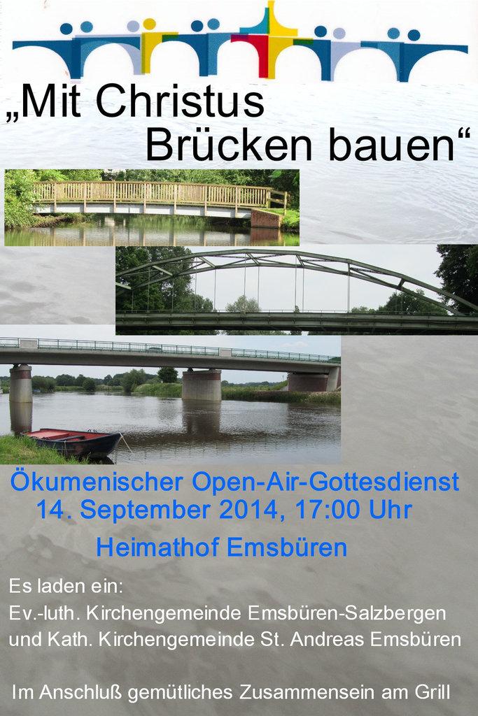 Brückenplakat