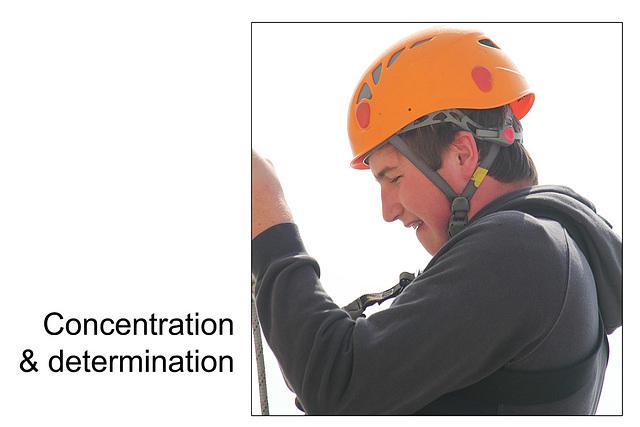 Calum's concentration & determination
