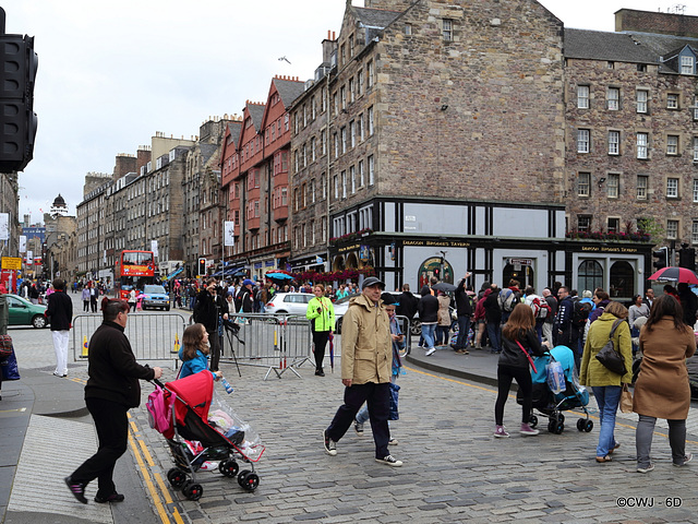 The Royal Mile, Edinburgh with Festival crowds