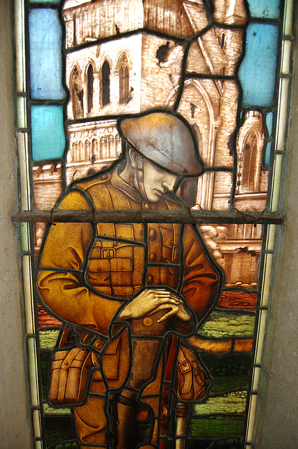 War Memorial Window, Former Unitarian Church (now Pitcher and Piano Pub), High Pavement, Lace Market, Nottingham