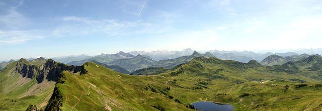 Panorama Damülser Höhenweg