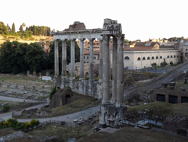 The Temple of Saturn and the Temple of Vespasian in the Roman Forum, June 2013