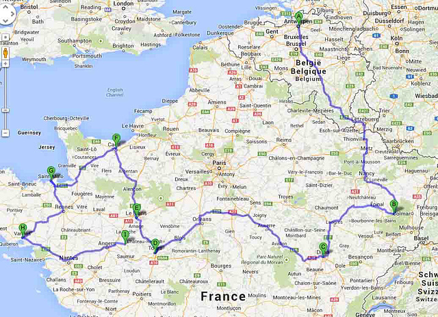 Mia oktobra prelegturneo en Belgio, Francio kaj Ĉeĥio