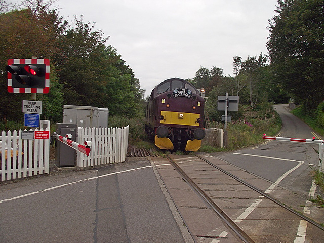 37 516 at Achterneed Crossing