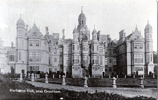 Harlaxton Hall, Lincolnshire c1914