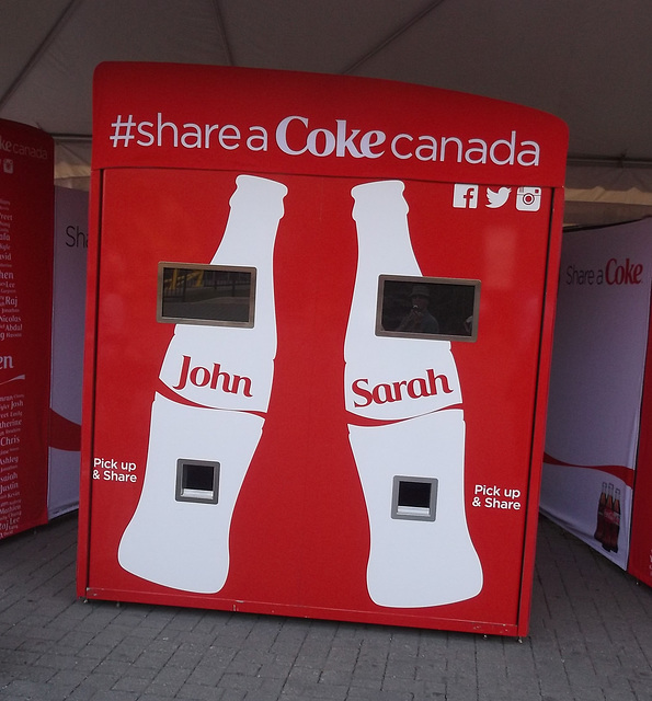 # # # John and Sarah sharing a Coke # # #