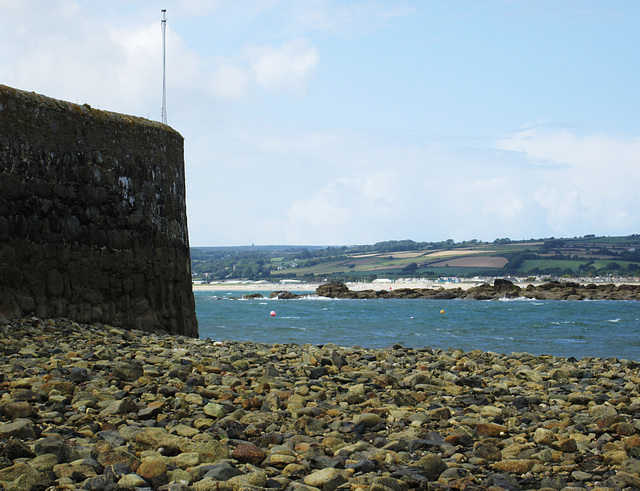 Harbour wall, St. Michaels Mount.