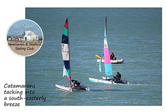 Tacking into a south-easterly breeze - NSSC - 16.8.2014