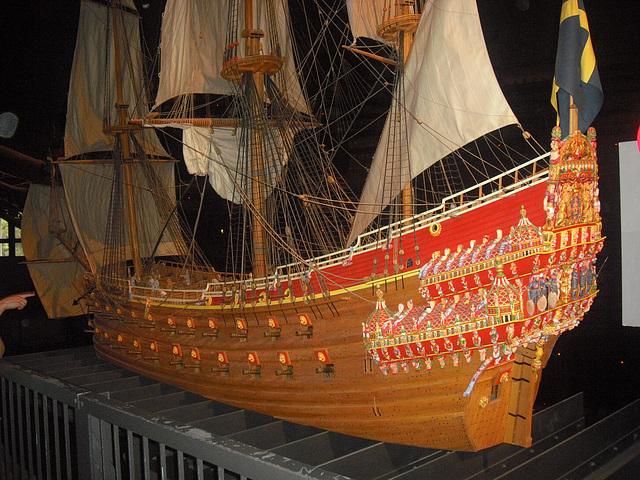 Vasa-laivan pienoismalli