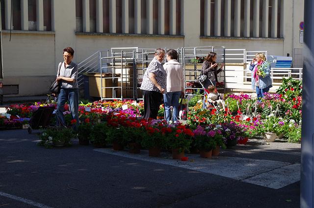 Villefranche sur Saône - le marché aux fleurs
