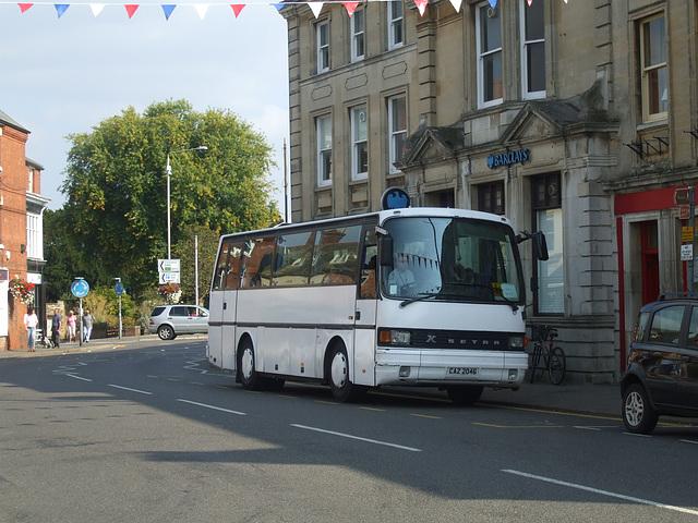 DSCF5904 Setra S210H coach in Oakham - 10 Sep 2014