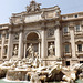 The Fountain of Trevi in Rome, June 2012