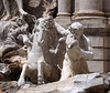 Detail of the Fountain of Trevi in Rome, June 2012