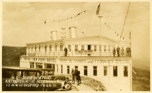 Grand View Ship Hotel: A Steamer in the Allegheny Mountains, 1932