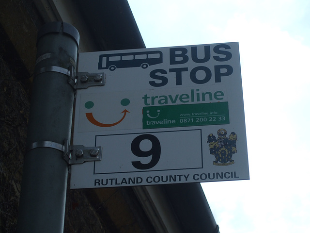 DSCF5828 Rutland County Council bus stop sign