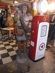 Indian's gas & Elvis.