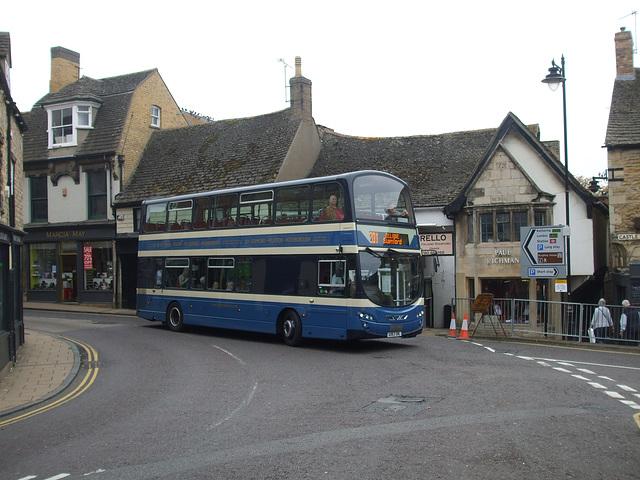 DSCF5916 Delaine Buses AD63 DBL in Stamford - 11 Sep 2014