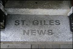 St Giles doorstep