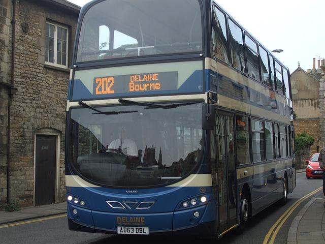 DSCF5920 Delaine Buses AD63 DBL in Stamford - 11 Sep 2014