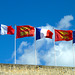Caen 2014 – French and Normandy flags